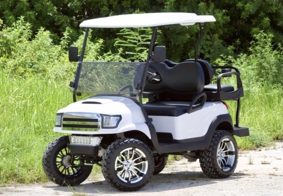 Atlantic Hills, LLC 2018 Club Car Precedent  Gas (White) BlK Diamond Stitch