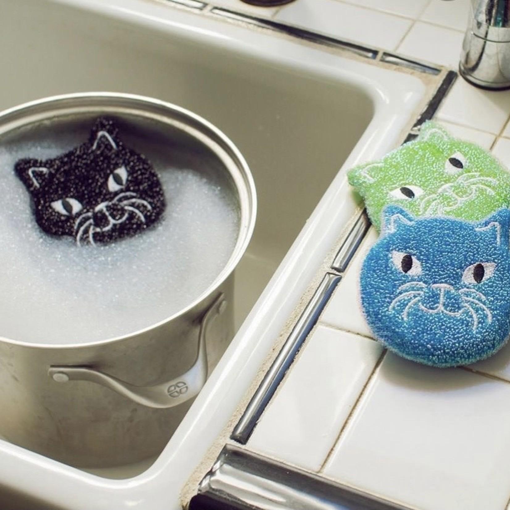 kikkerland Cat Dish Sponges s/3