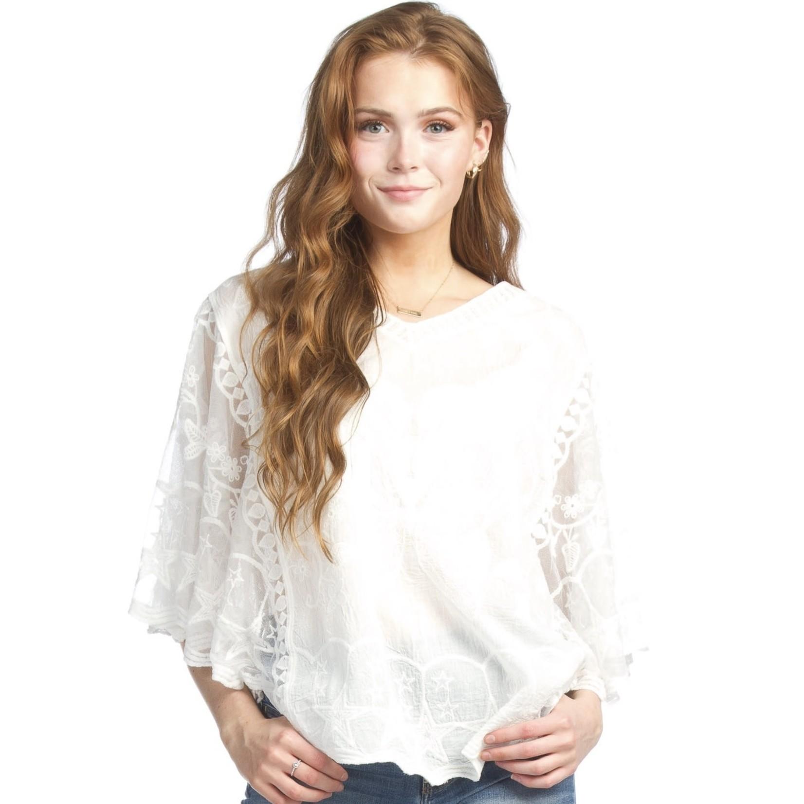 Papillon Crochet Blouse  PT-07054