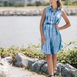 Papillon Tie Dye Button Dress