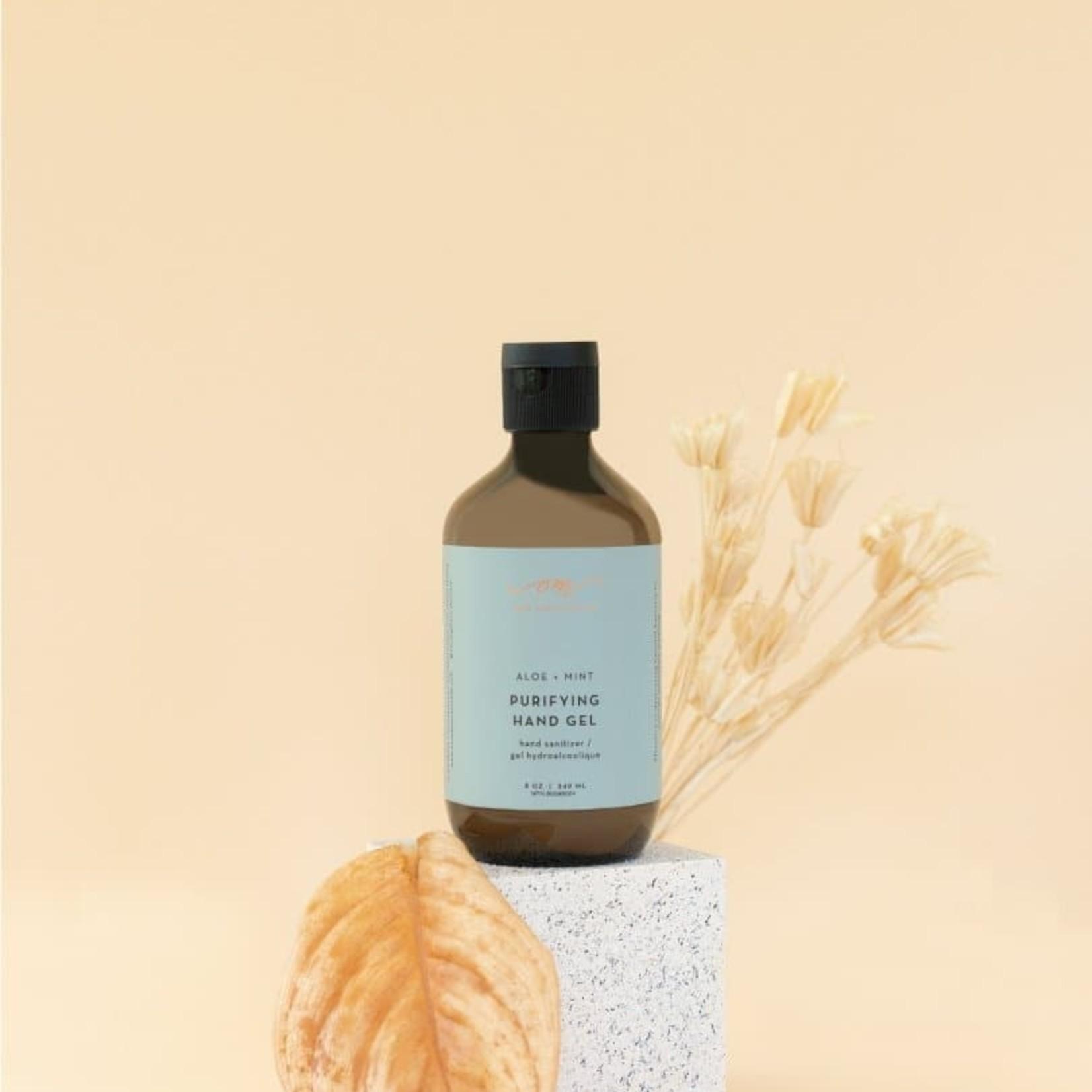 om organics aloe & mint sanitizer gel