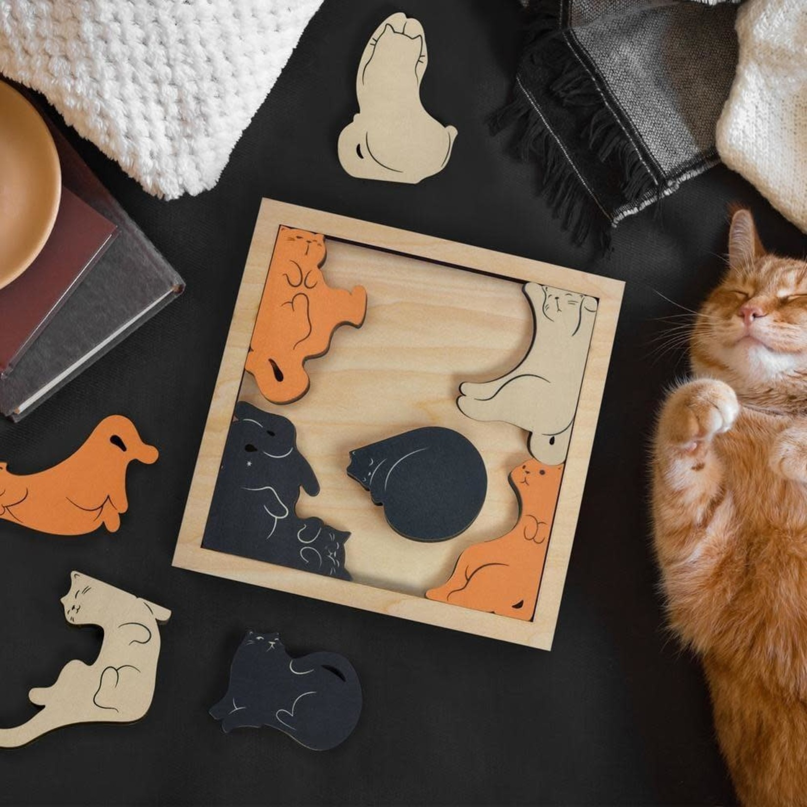 Fred Kitty Corner Wooden Puzzle