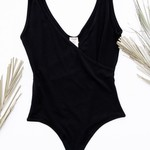 cest moi Bamboo S/Less Wrap Body Suit