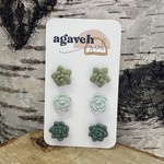 agaveh girl Succulent Earring Trio