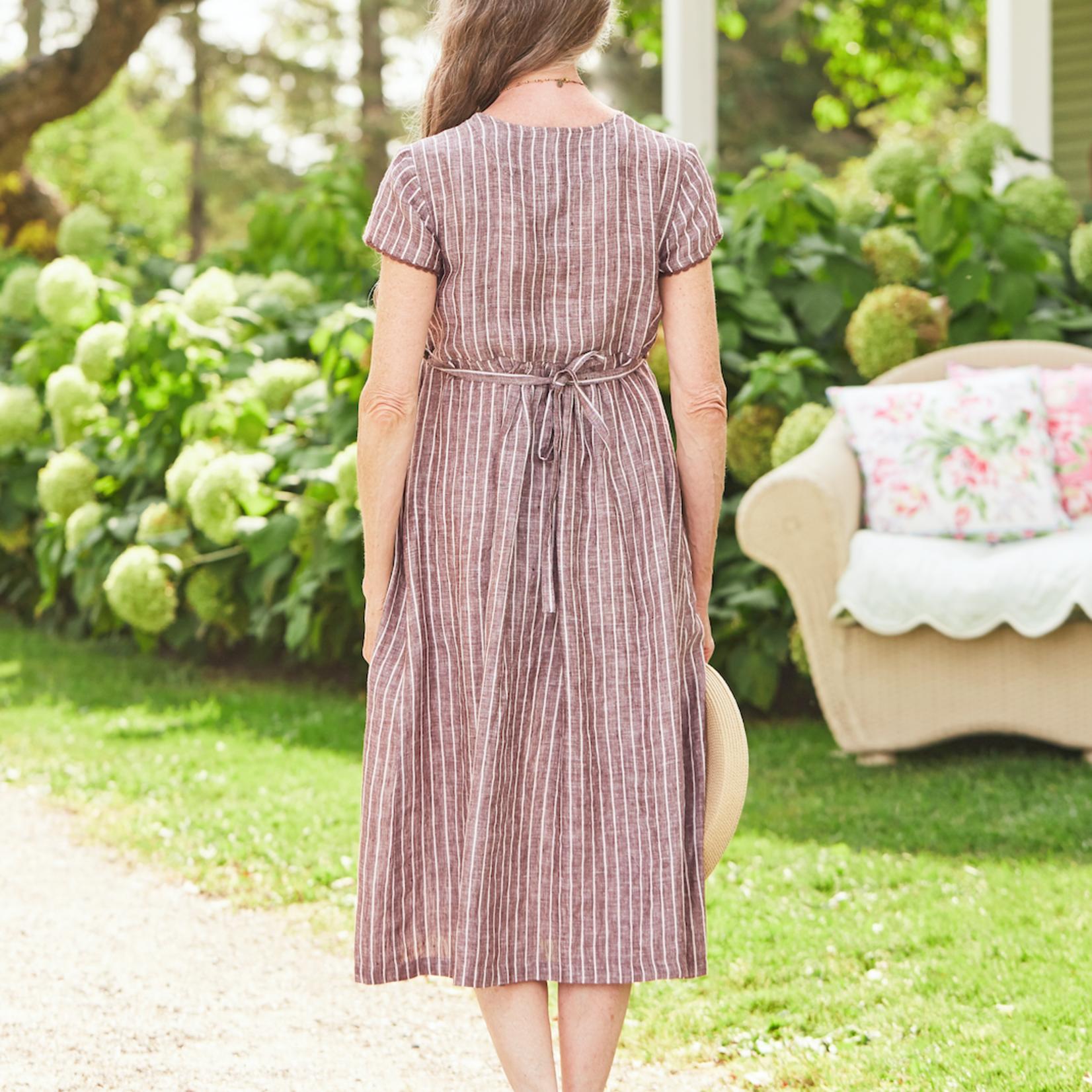 April Cornell Cocoa Linen Dress