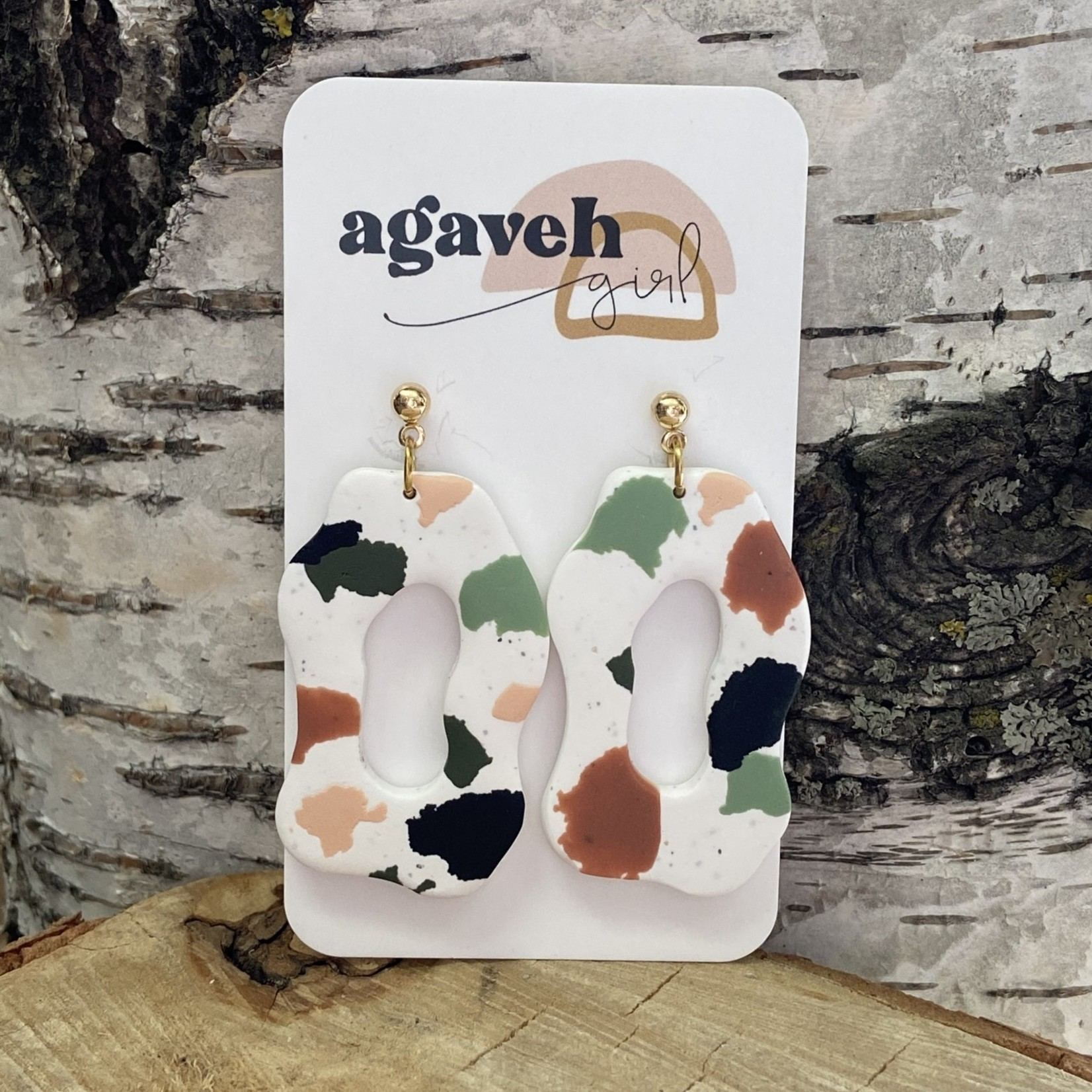 agaveh girl Abstract Terrazzo Earring