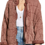 free people Dolman Quilted Knit Jacket