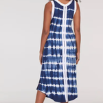 tribal Sleeveless Tie-Dye Jersey Dress