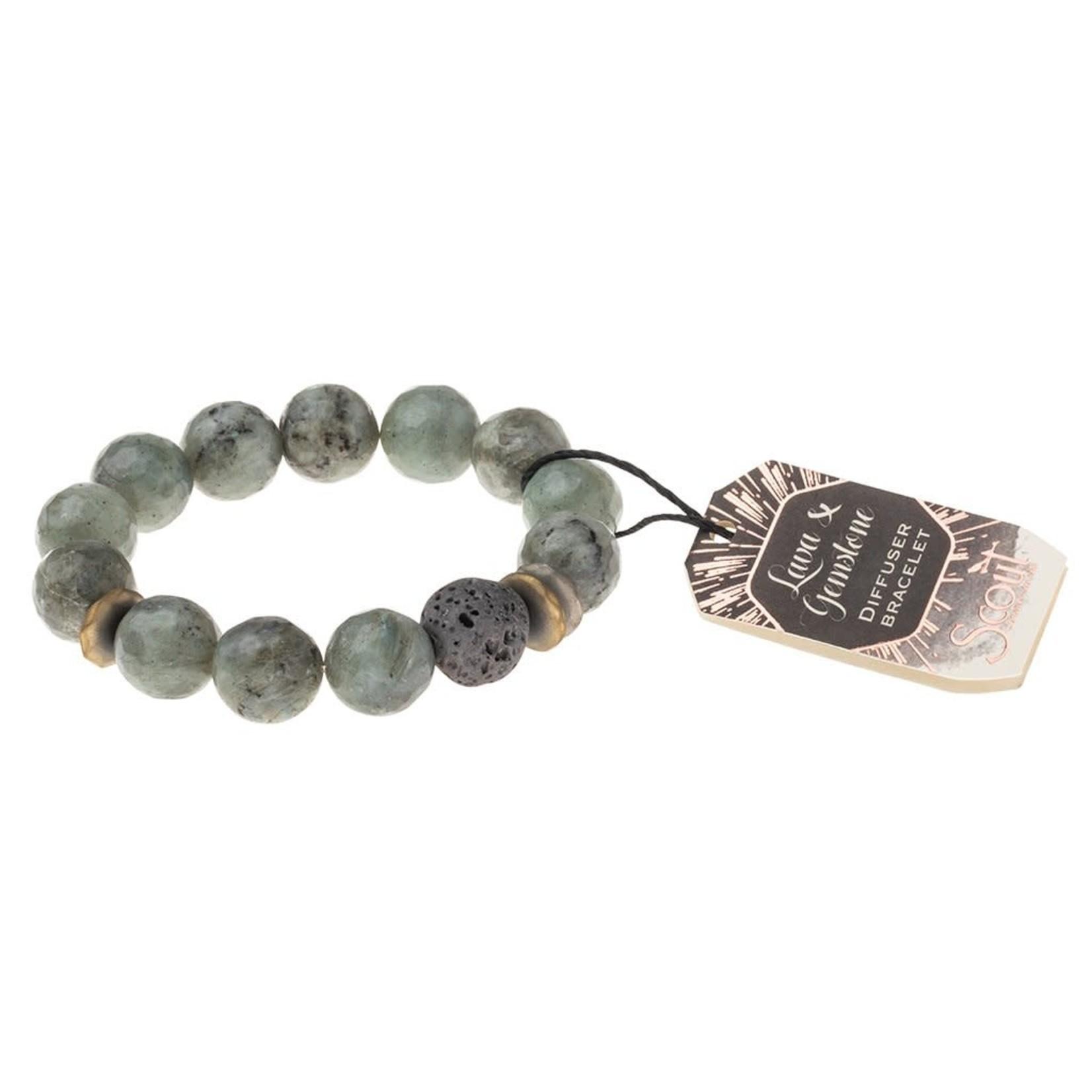 Scout Lava & Gemstone Diffuser Bracelet