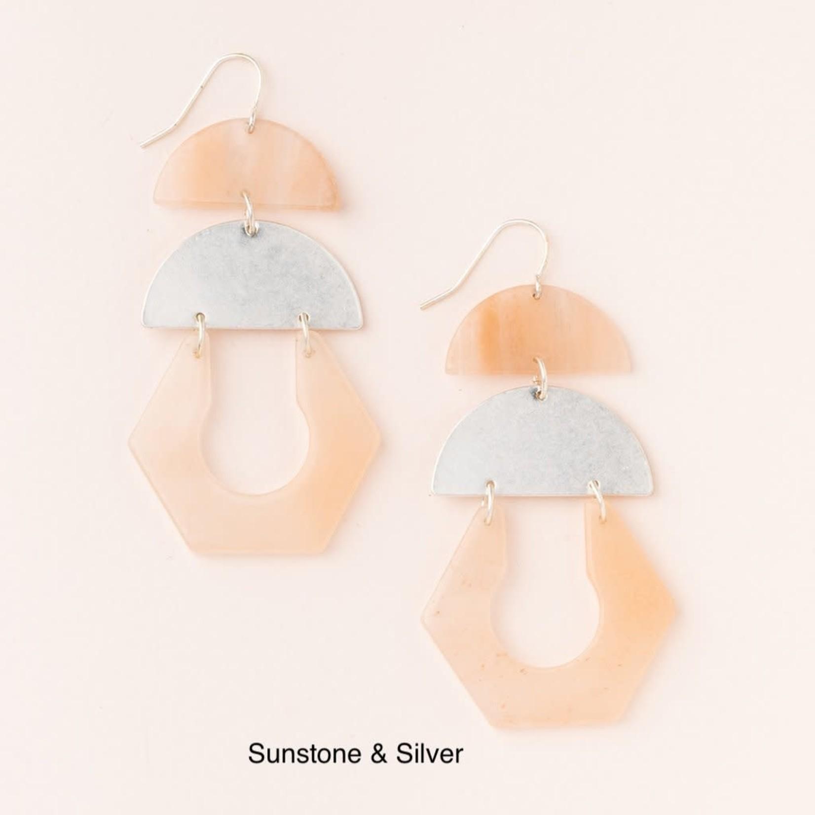 Scout Stone Cutout Earring