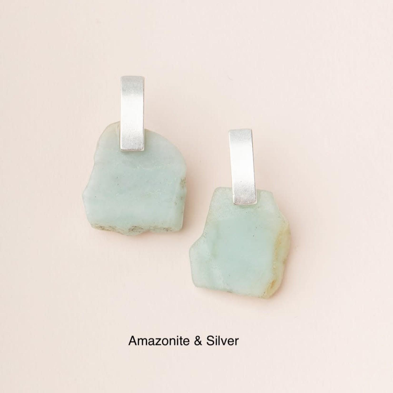Scout Stone Slice Earring