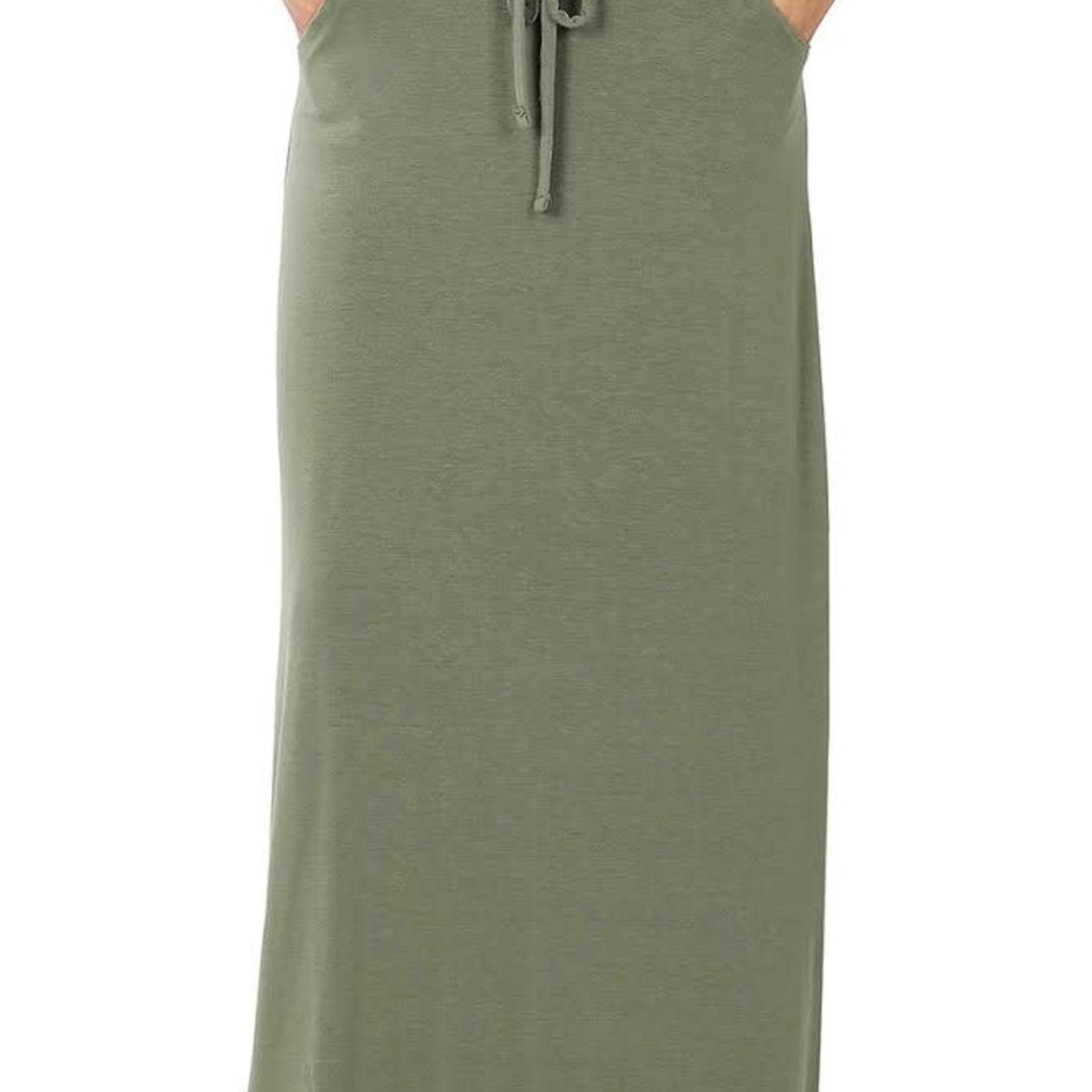 zenana Relaxed Fit Maxi skirt 2335