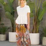 mystree Satin Flowy Pants with Pleated Front