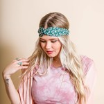 leto Floral Trailing Vine Twist Headwrap