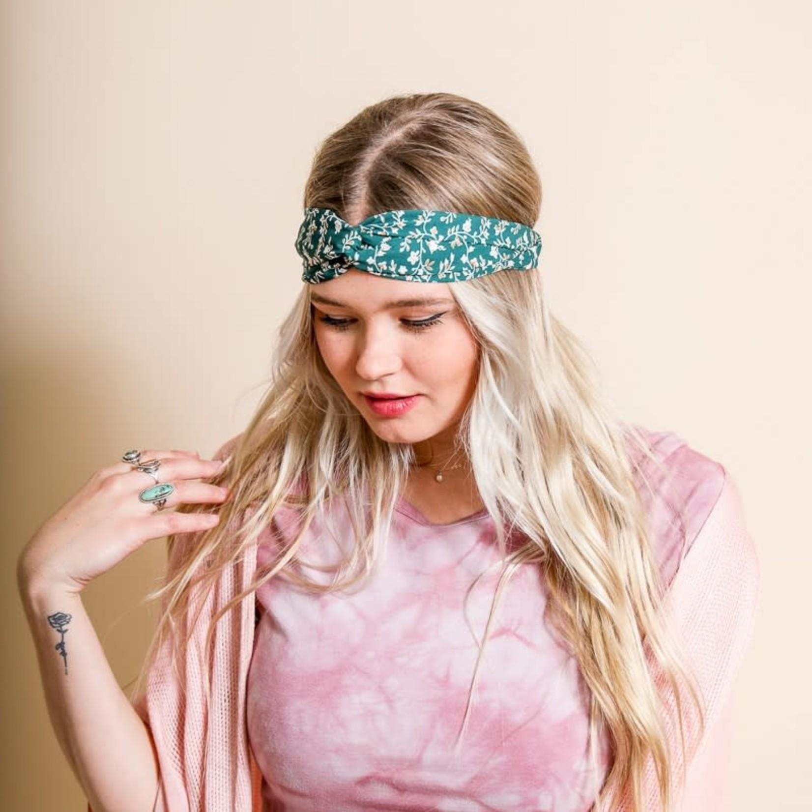 leto Floral Trailing Vine Twist Headwrap 1614