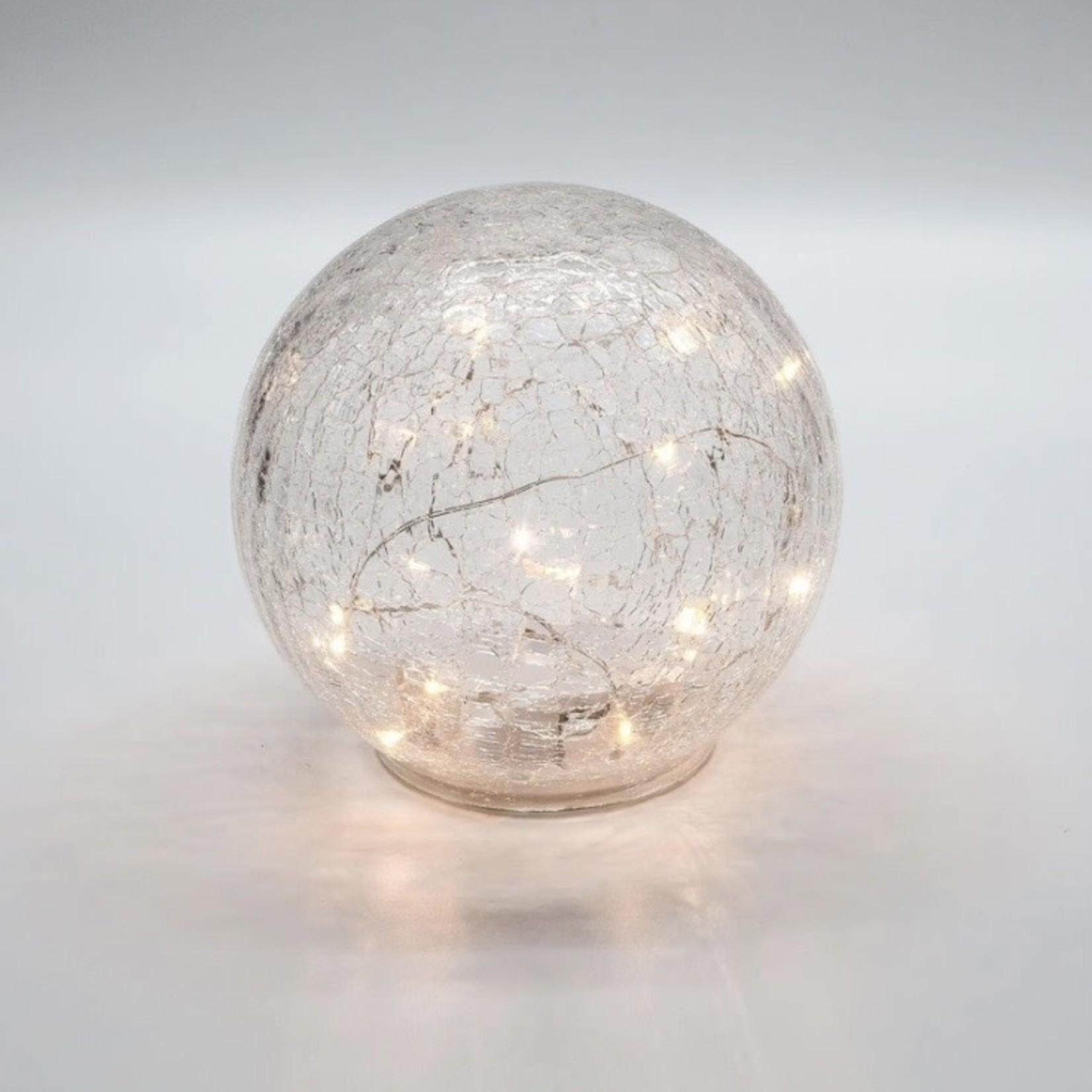 Torre & Tagus LED Sphere 6in Crackle Light