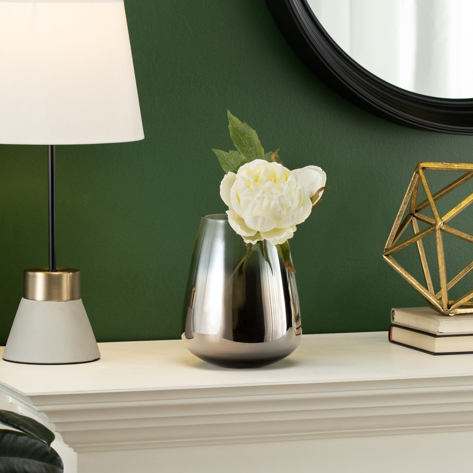 Torre & Tagus Smoke Mirror Vase
