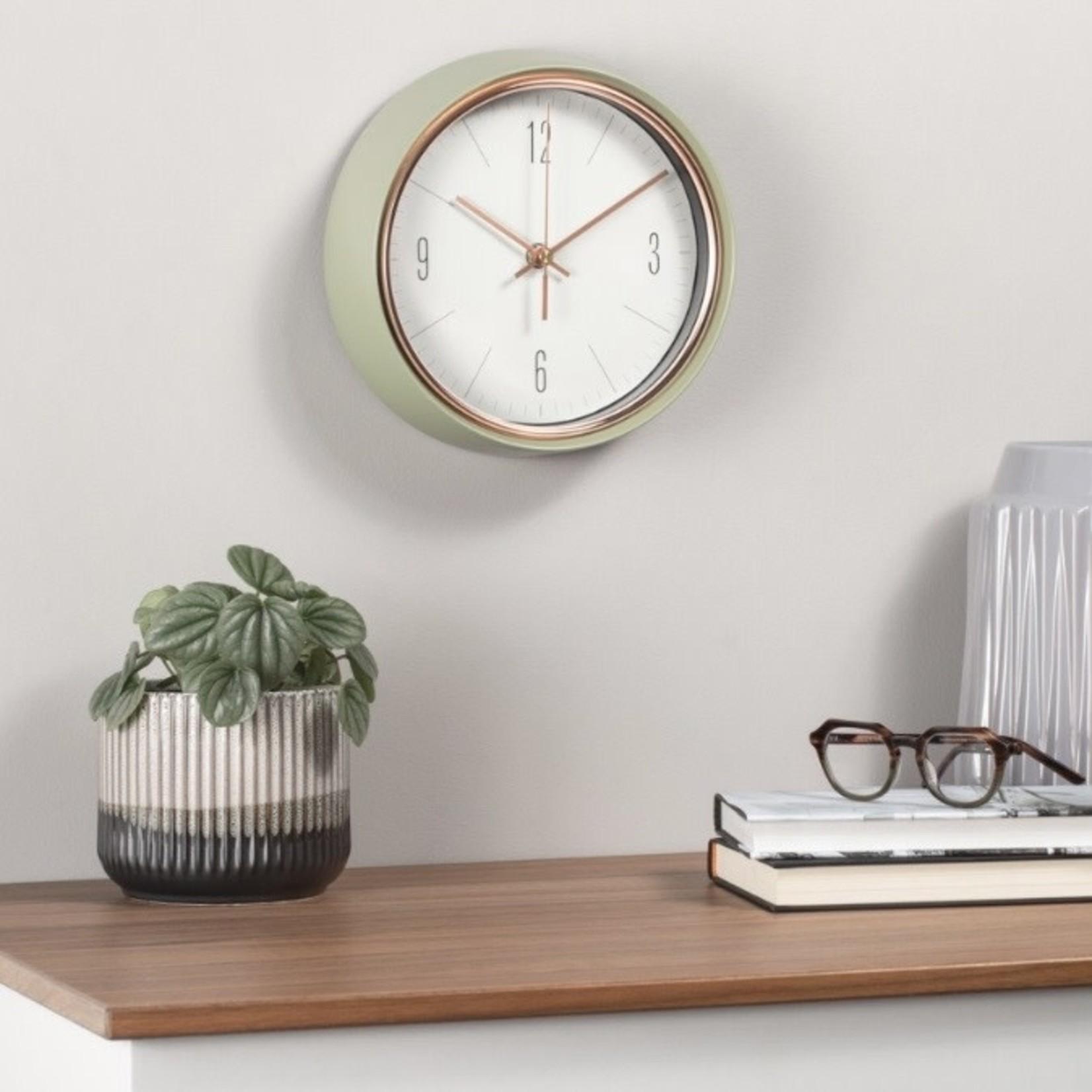 Torre & Tagus Oliver Retro Green Clock