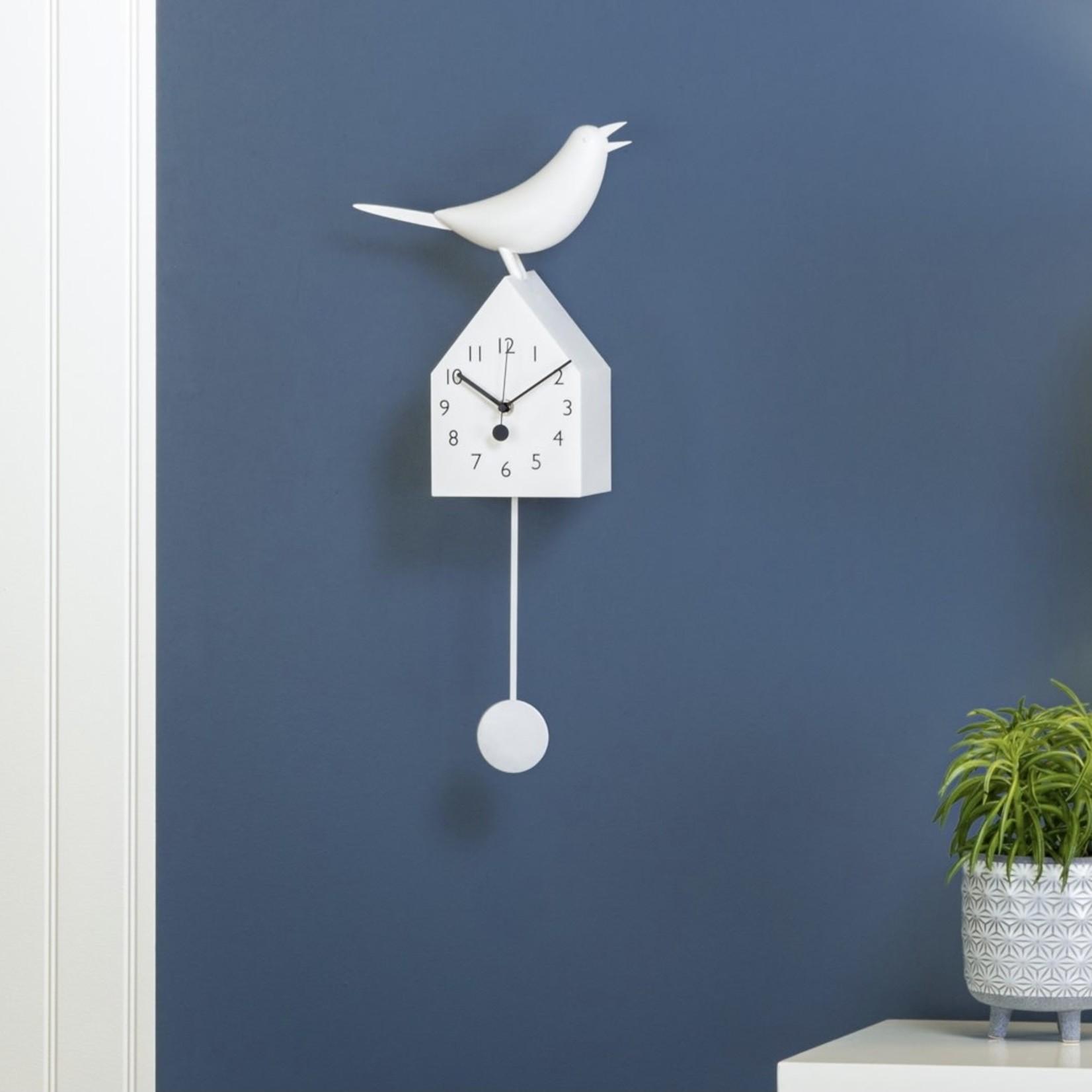 Torre & Tagus Motion Birdhouse Clock - White