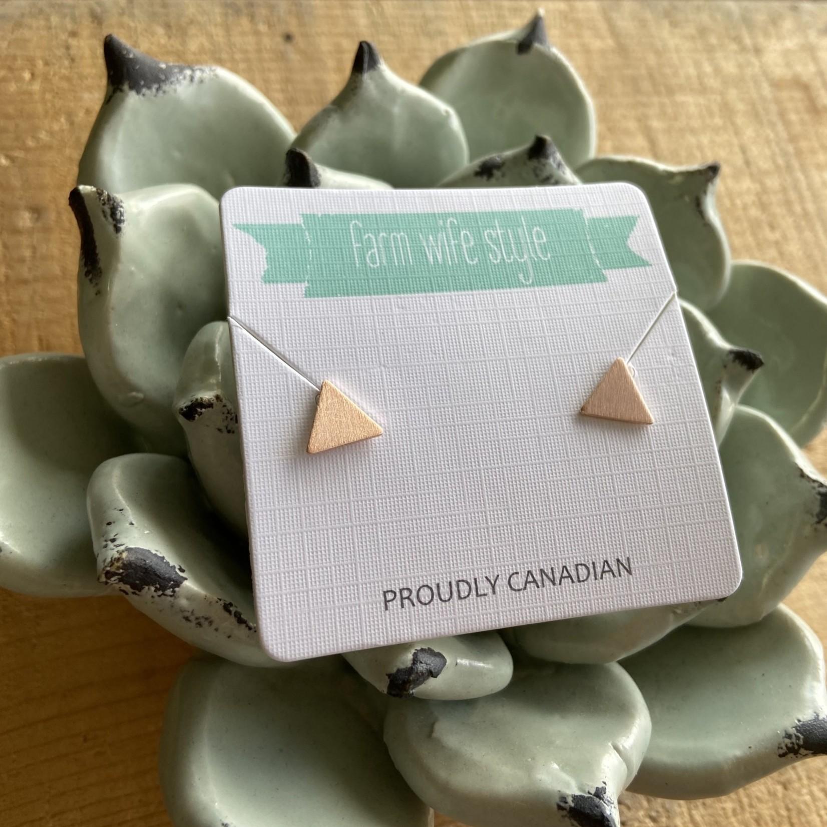 farm wife style The Jennifer Triangle Earring