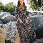 Papillon Empire Waist Maxi Dress 07524