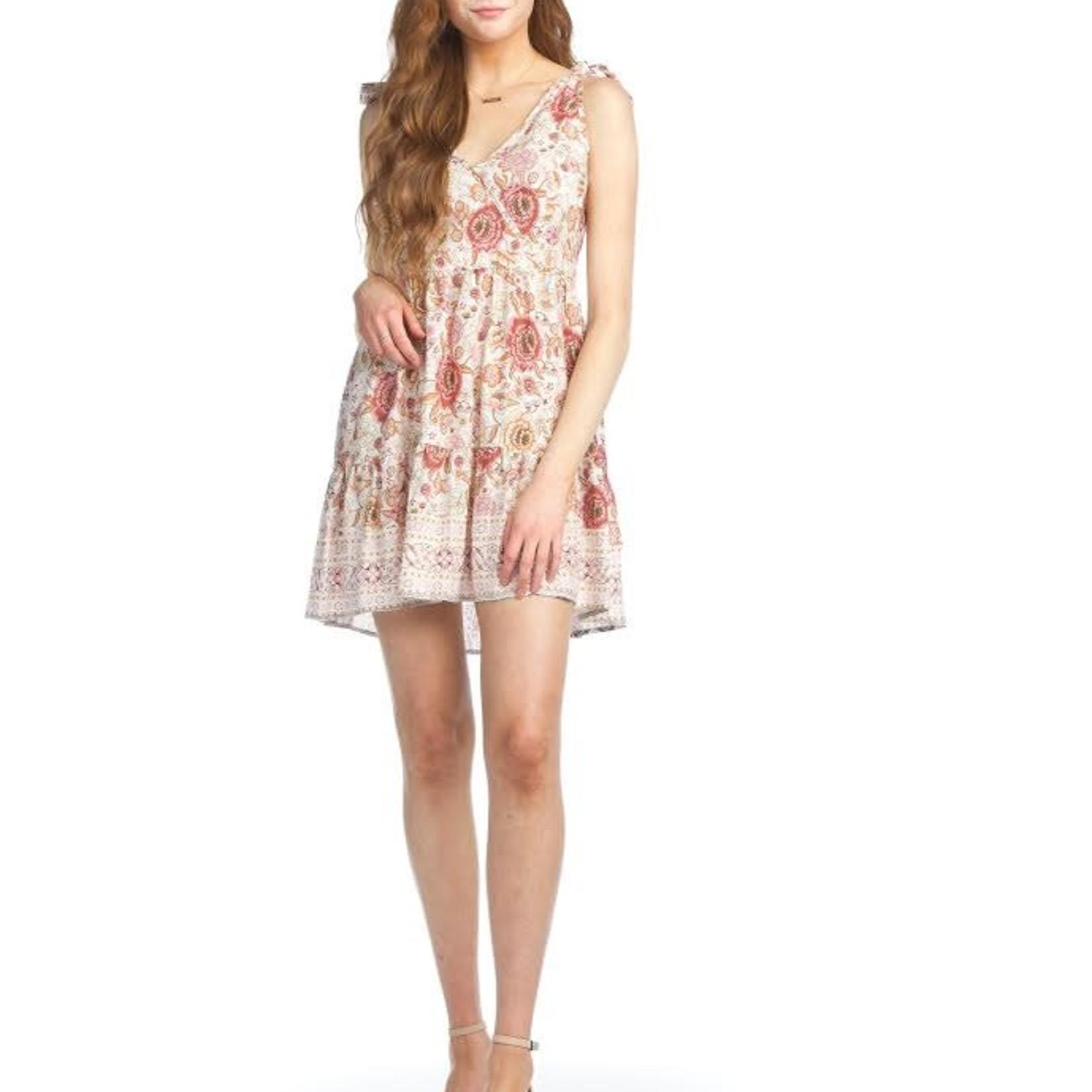 Papillon Floral Dress With Adjustable Straps 07583