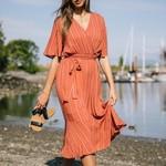 Papillon Linier Wrap Look Dress 07535