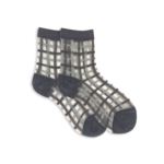 xs unified Sheer Plaid Socks
