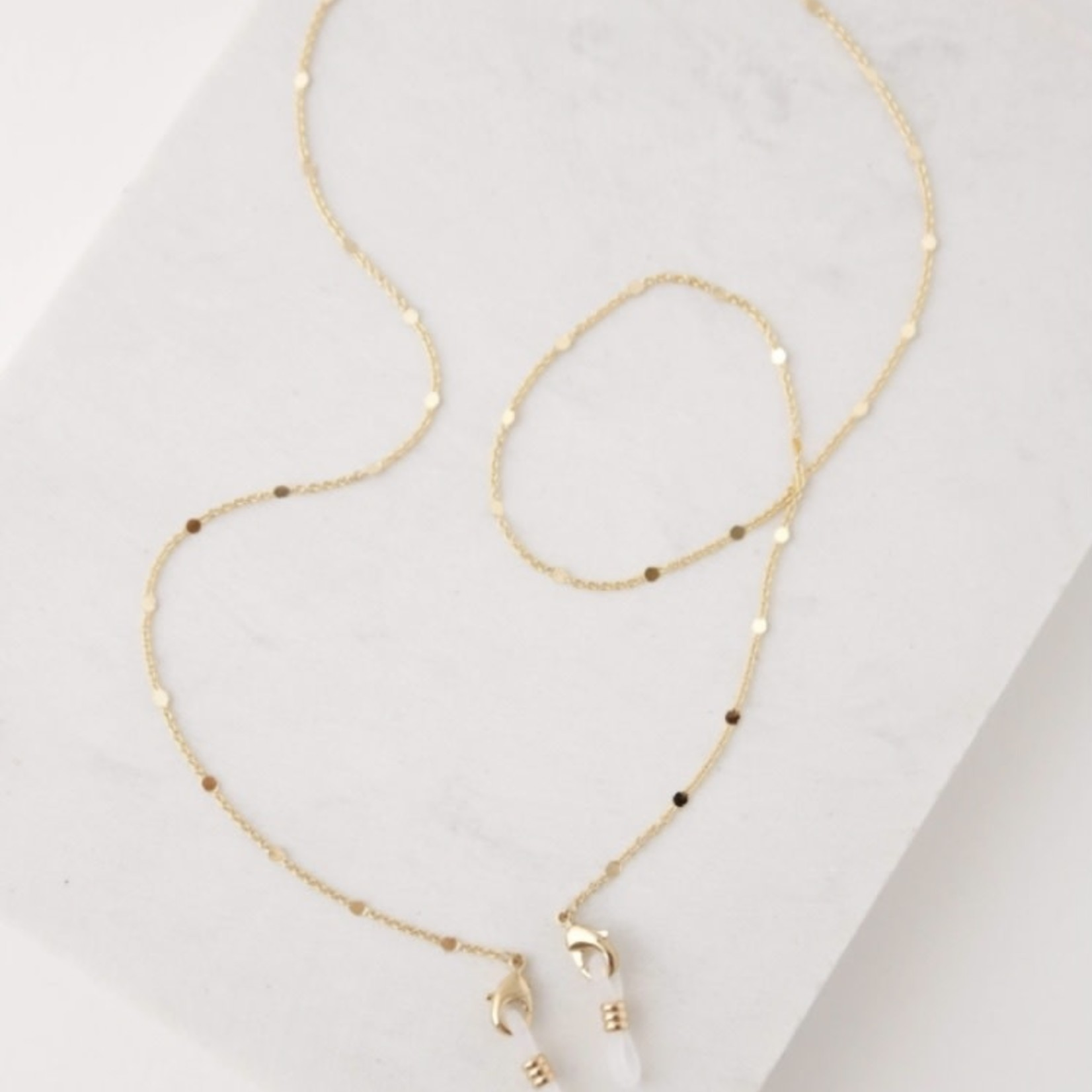 lovers tempo Gold Glasses/Mask Chain