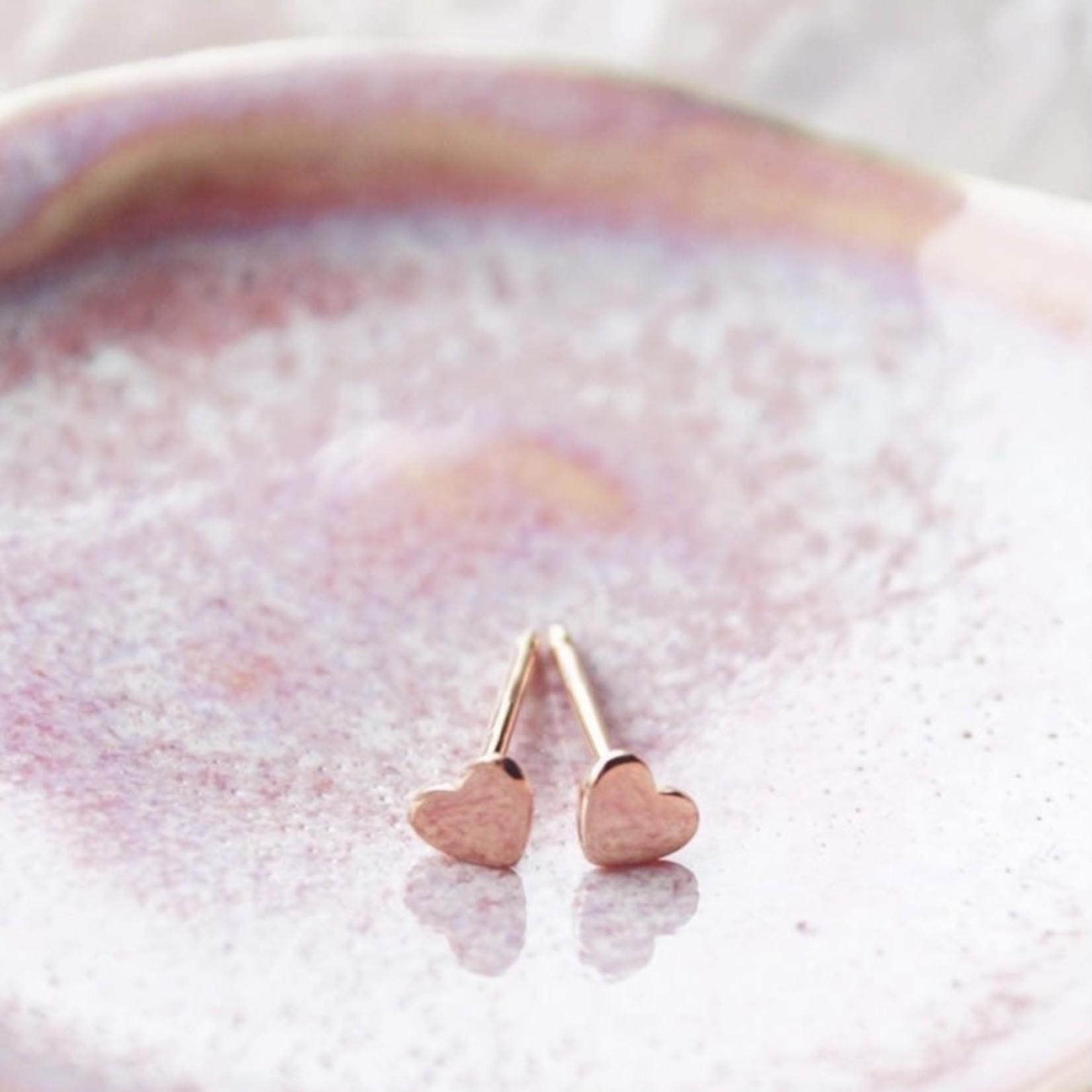 eliasz and ella Little Heart Earrings