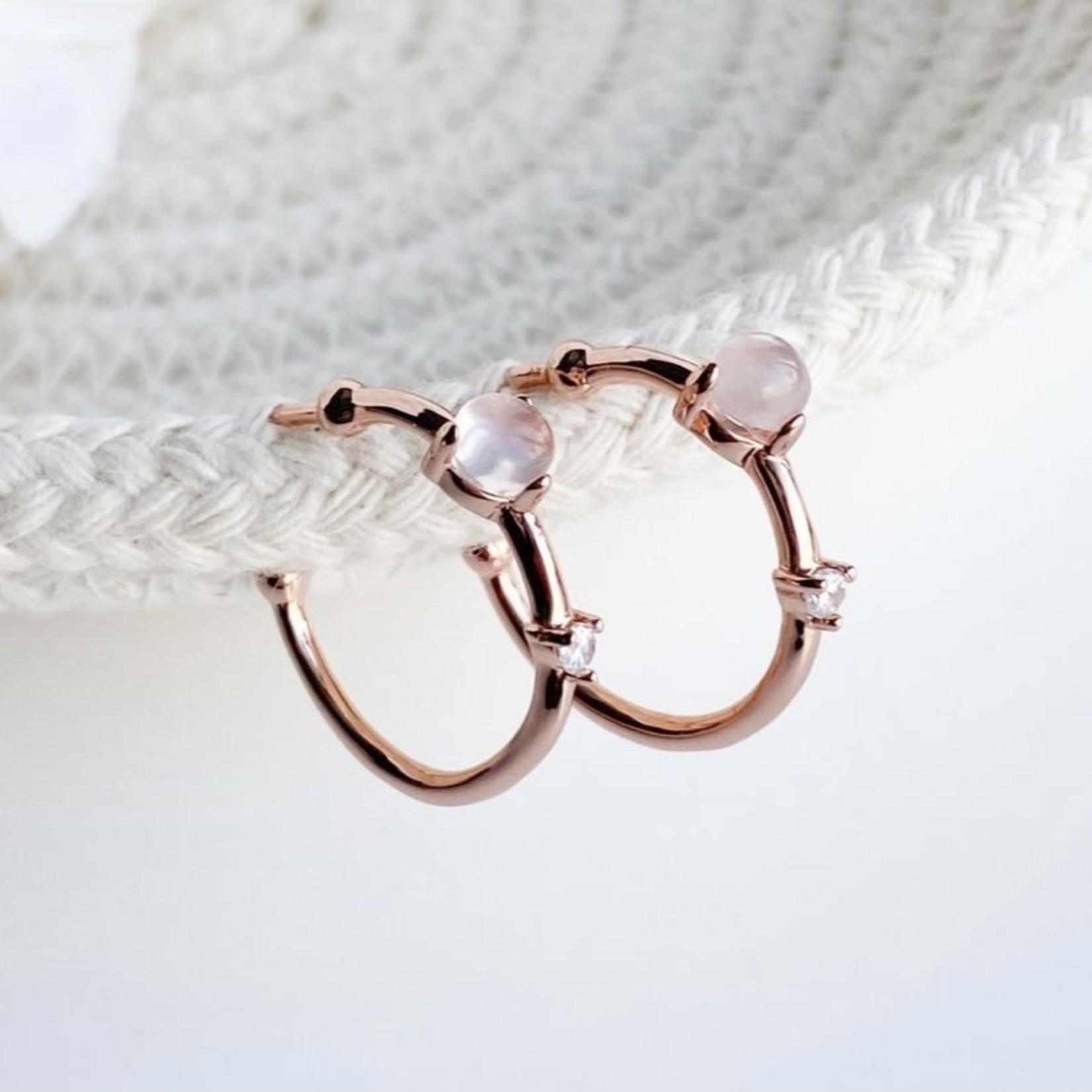 eliasz and ella Embrace Quartz Hoop Earrings