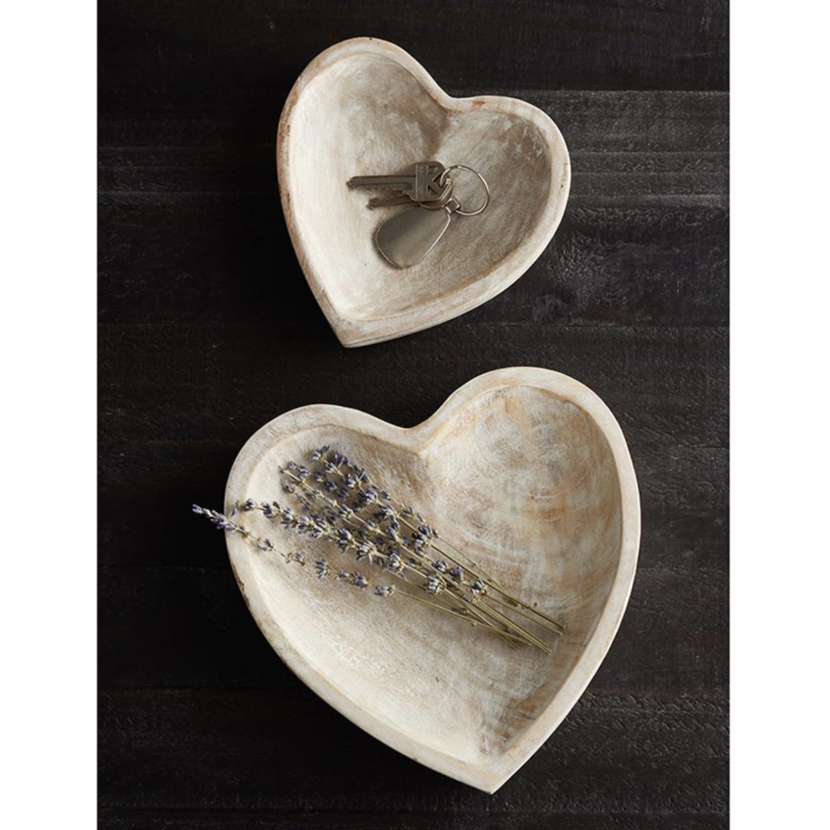 47th & Main Wooden Heart (Small)