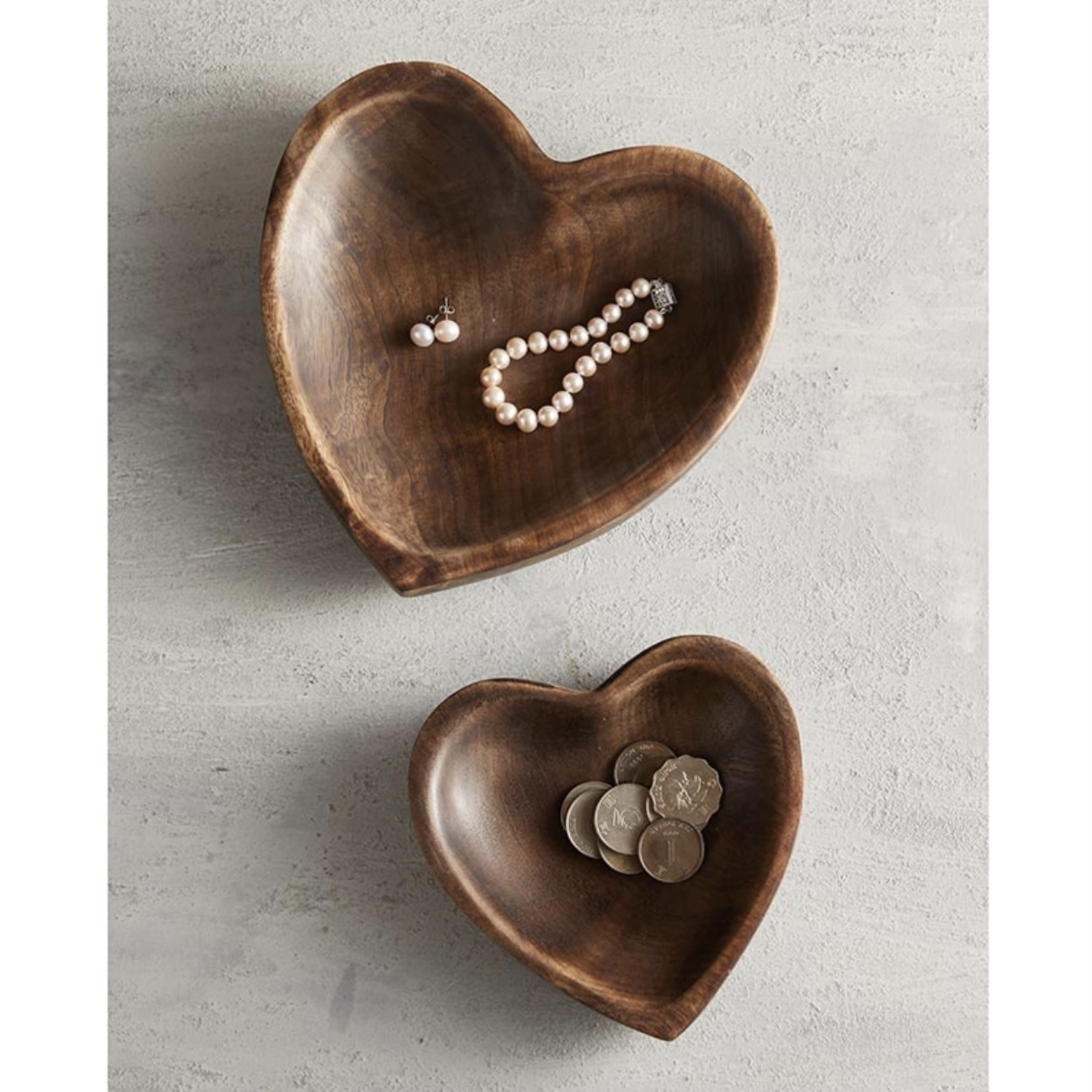 47th & Main Wooden Heart (Large)