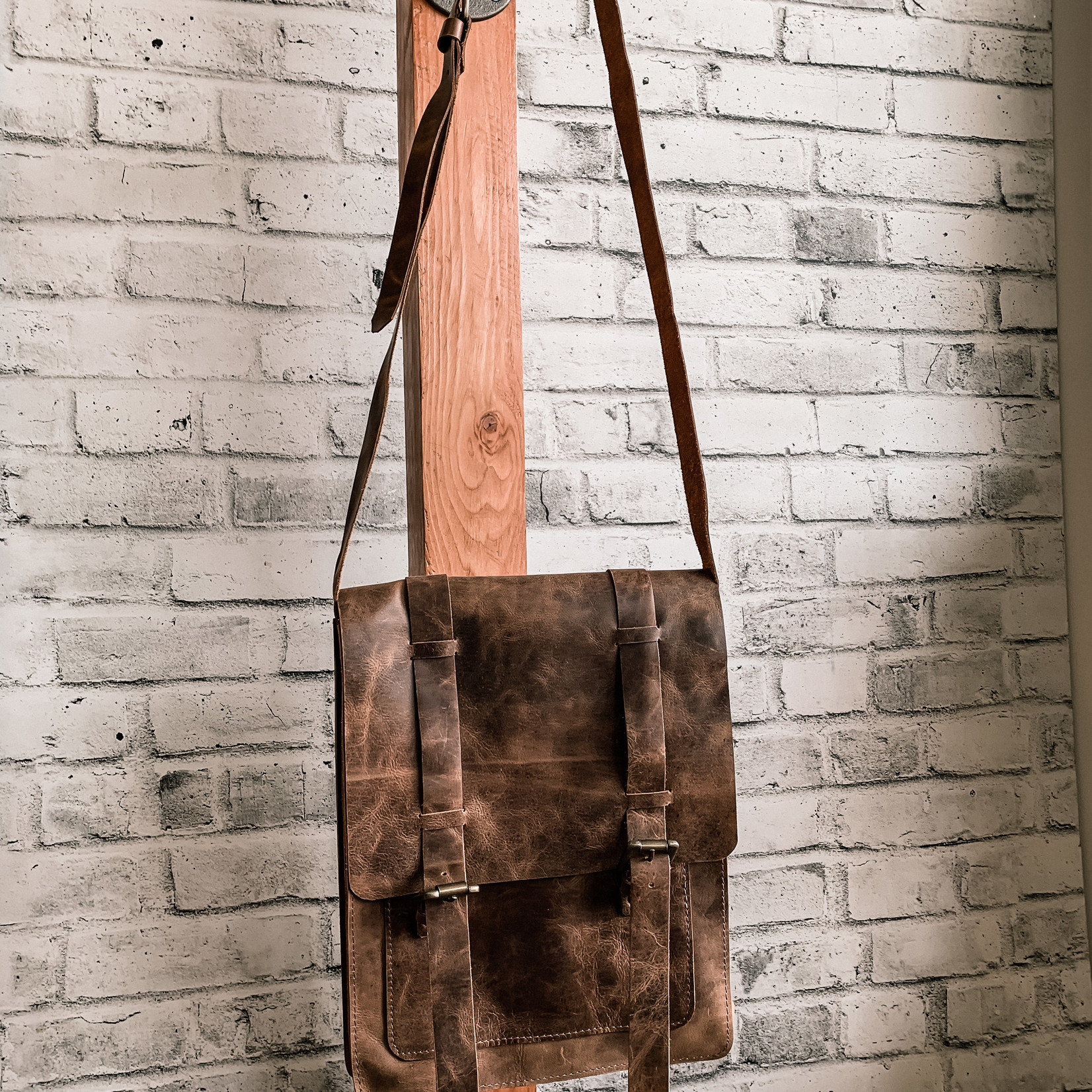 Blue Rickshaw Leather Bag