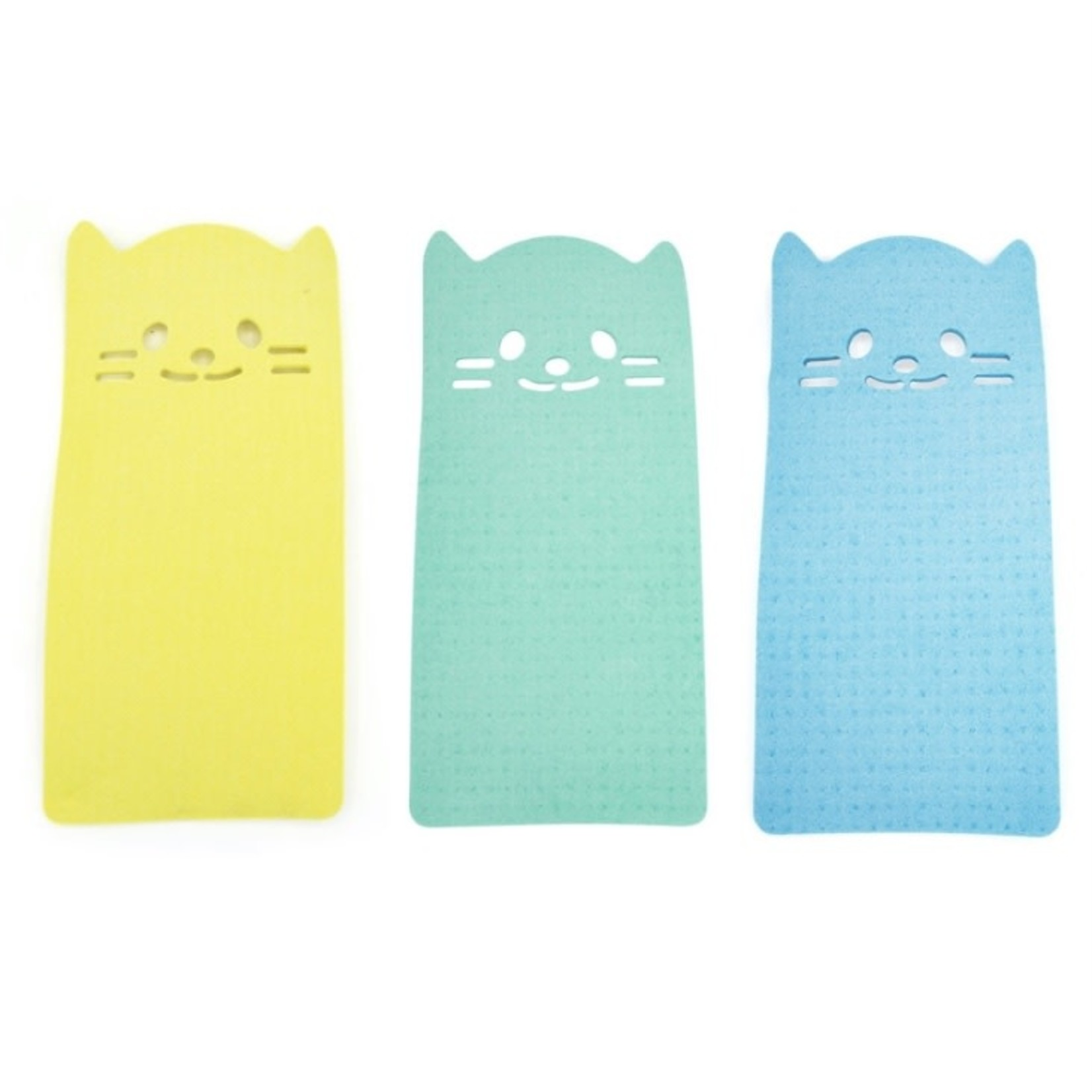 kikkerland Kitty Reusable Cleaning Cloths 3pc