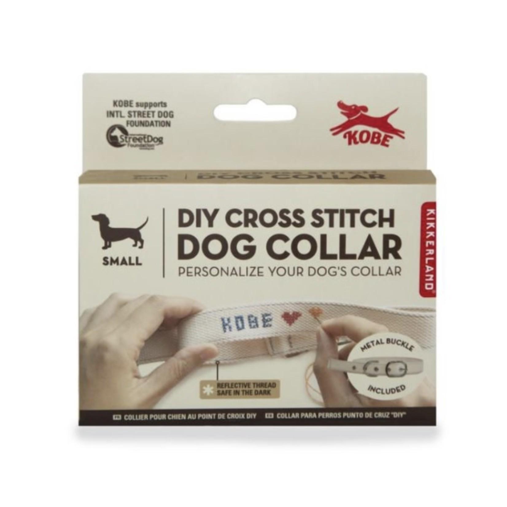kikkerland DIY Cross Stitch Dog Collar
