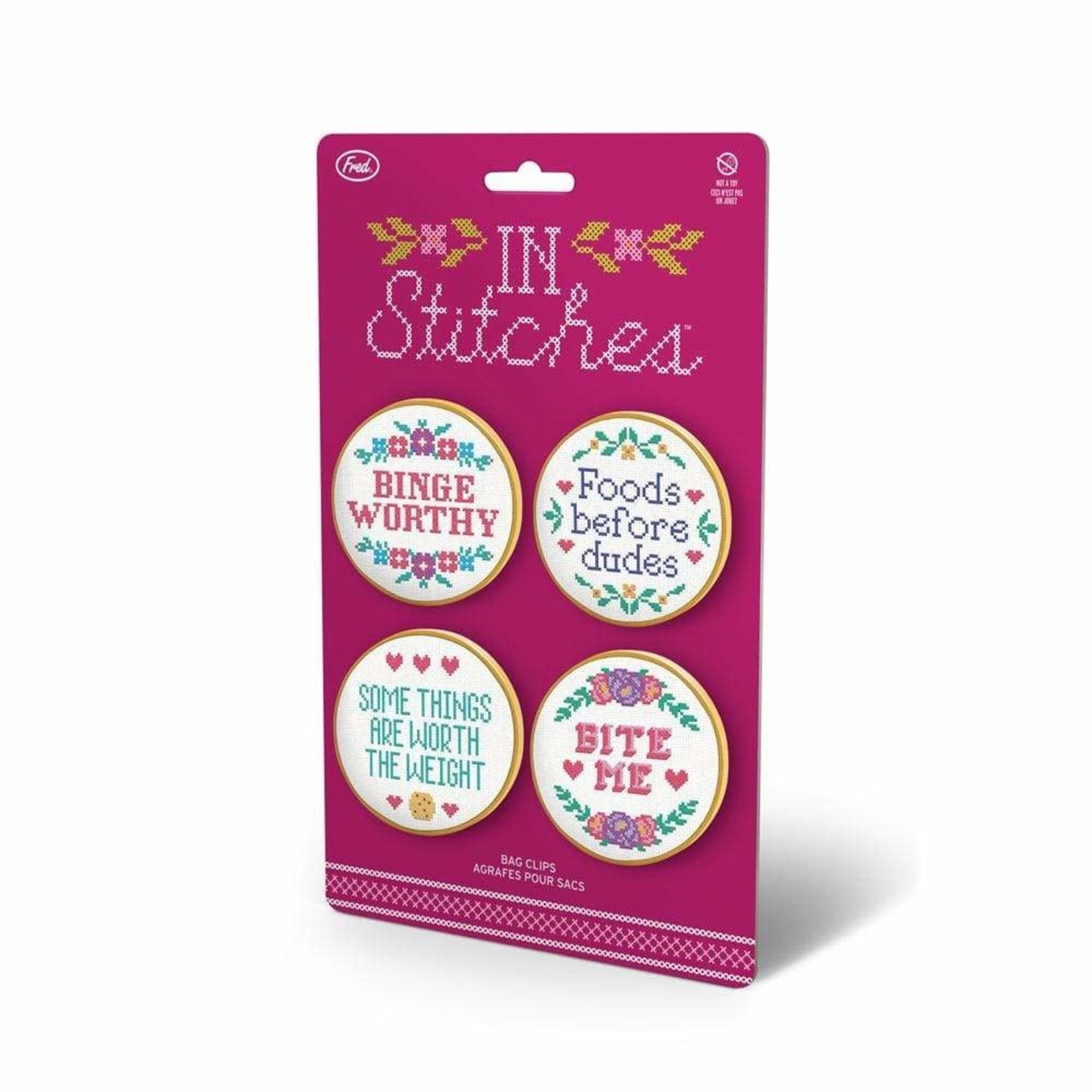 Fred In Stitches Bag Clips Set of 4