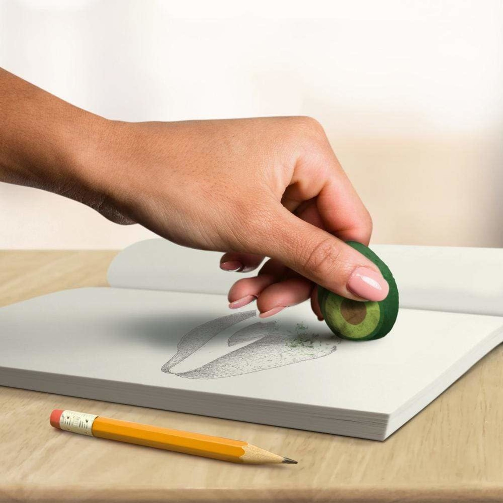 Fred Avocado Erasers Pack of 4