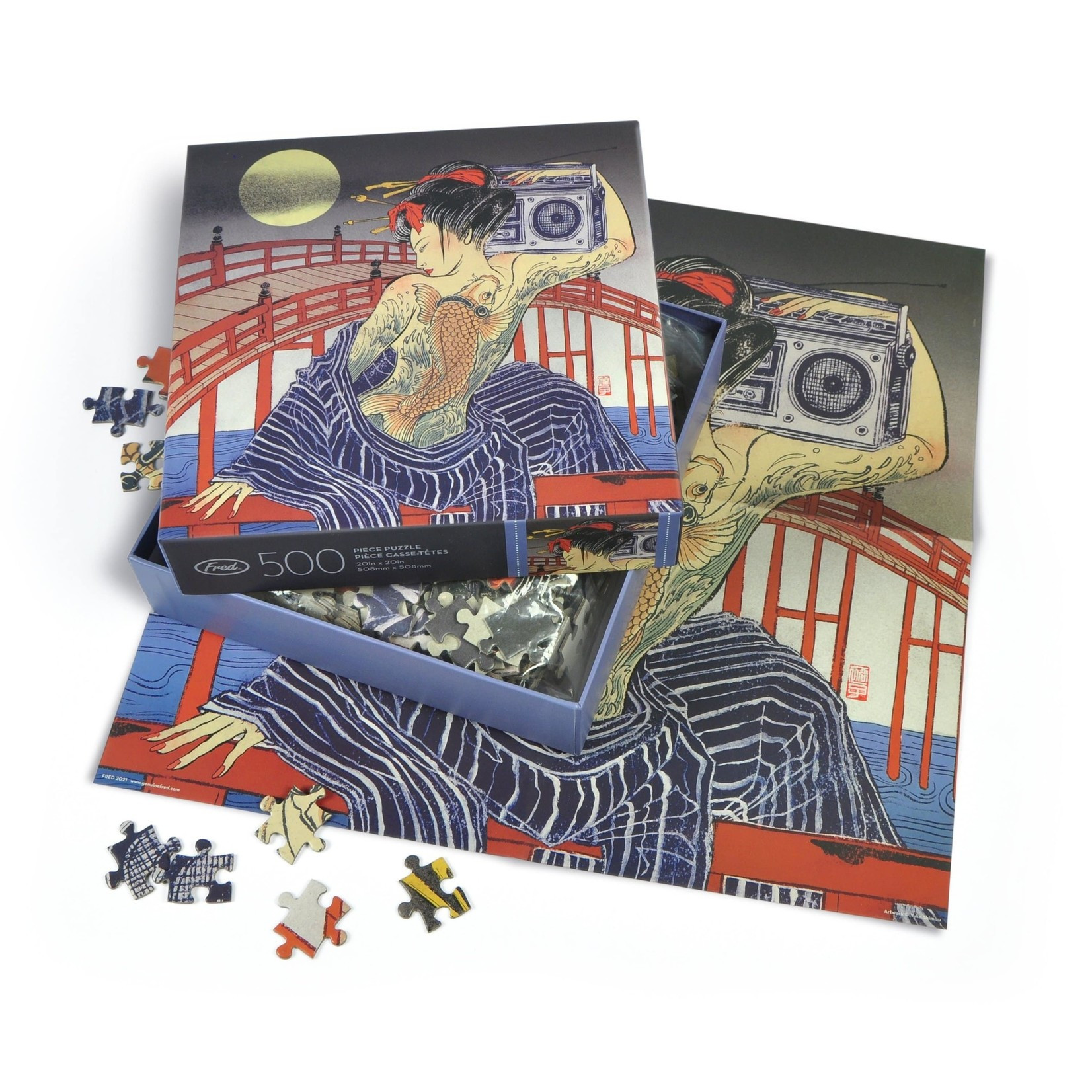 Fred 500 Piece Puzzle Taiko-Bashi