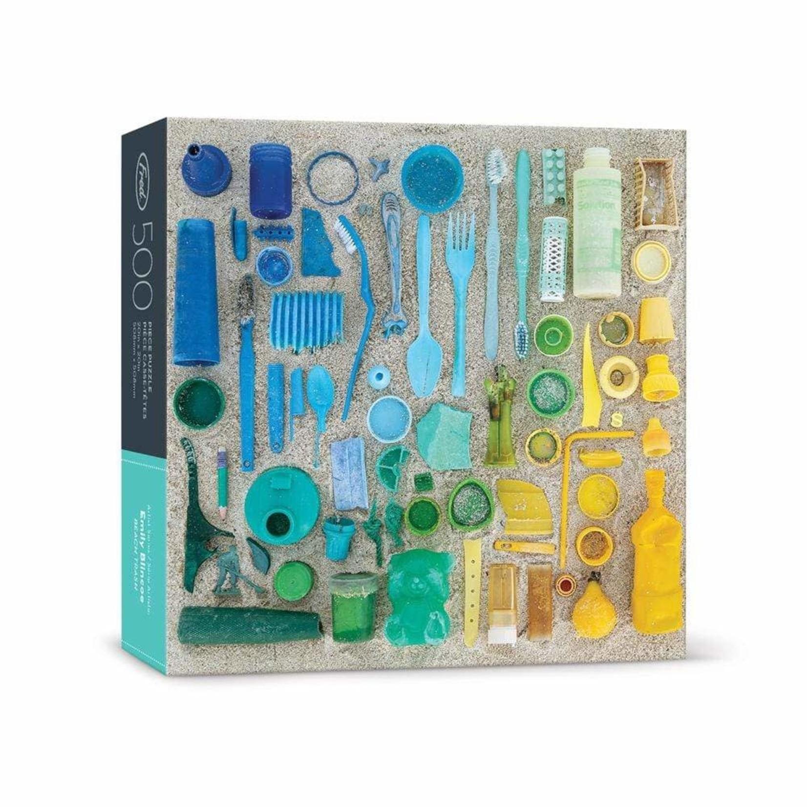 Fred 500 Piece Puzzle Beach Trash