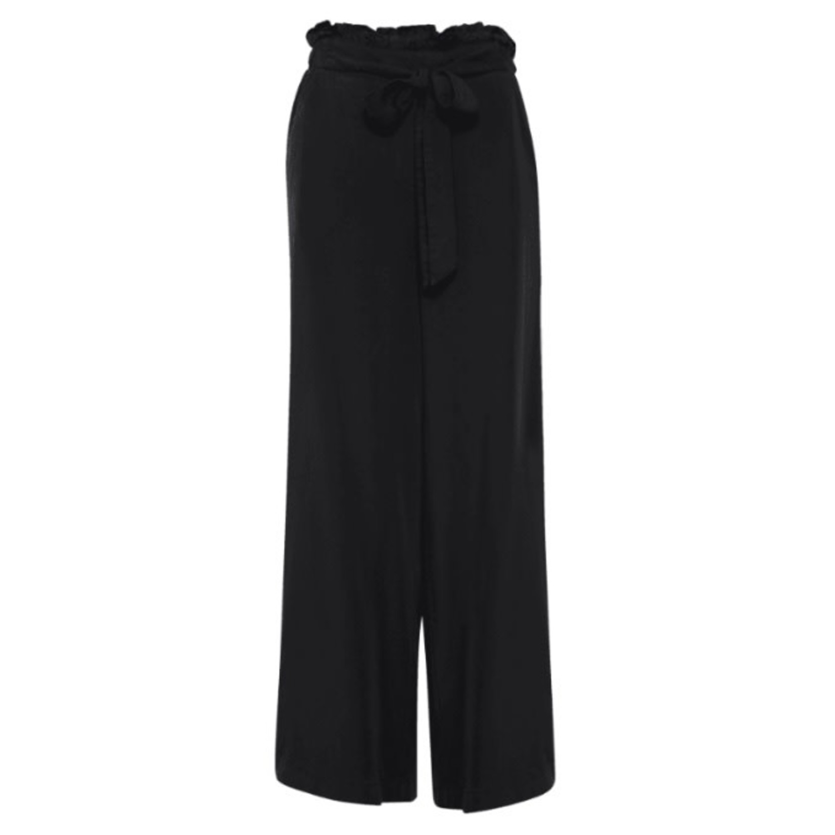 ICHI Paper Bag Trousers Black