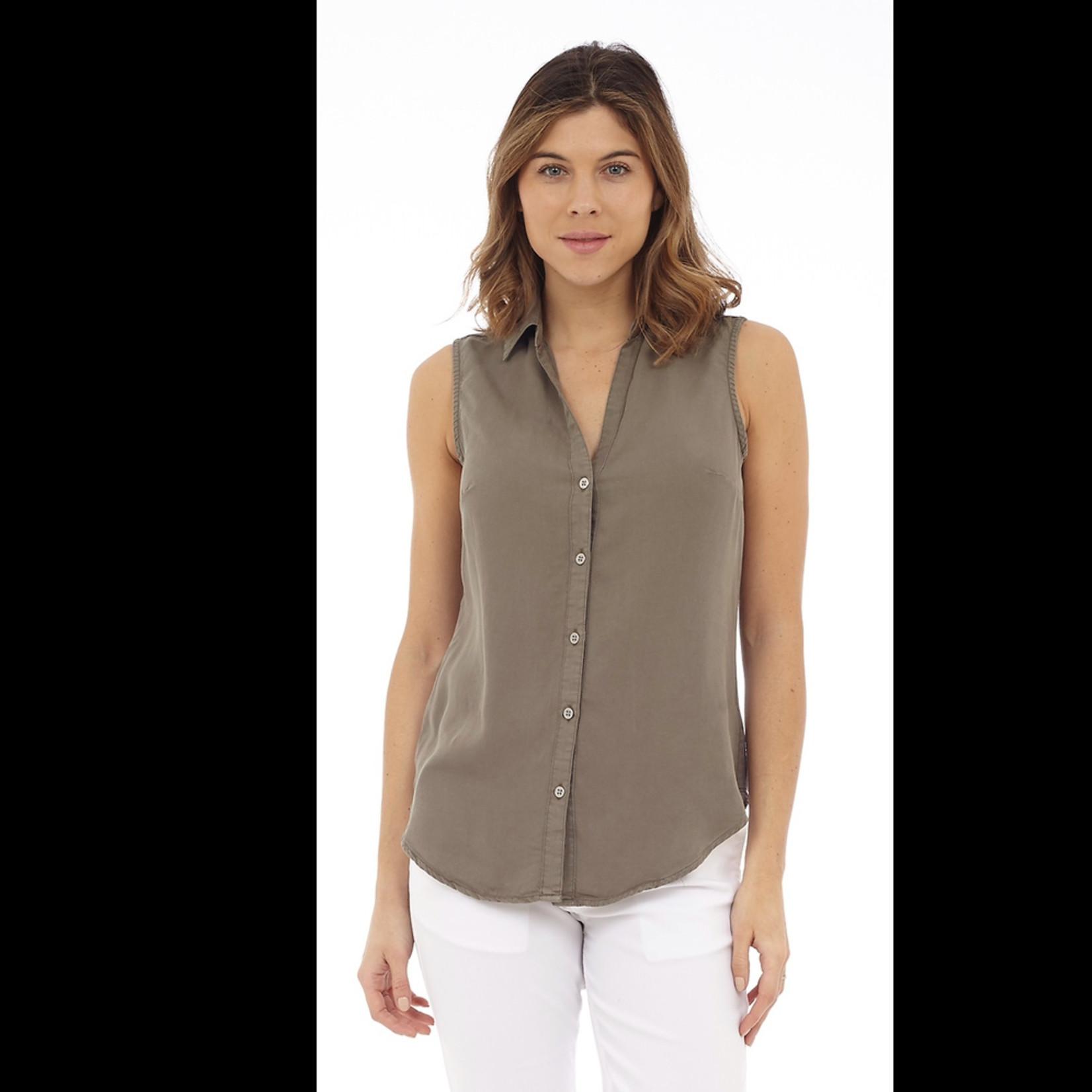 DKR & Company Sleeveless V-Neck Button Up Top CH-ATK