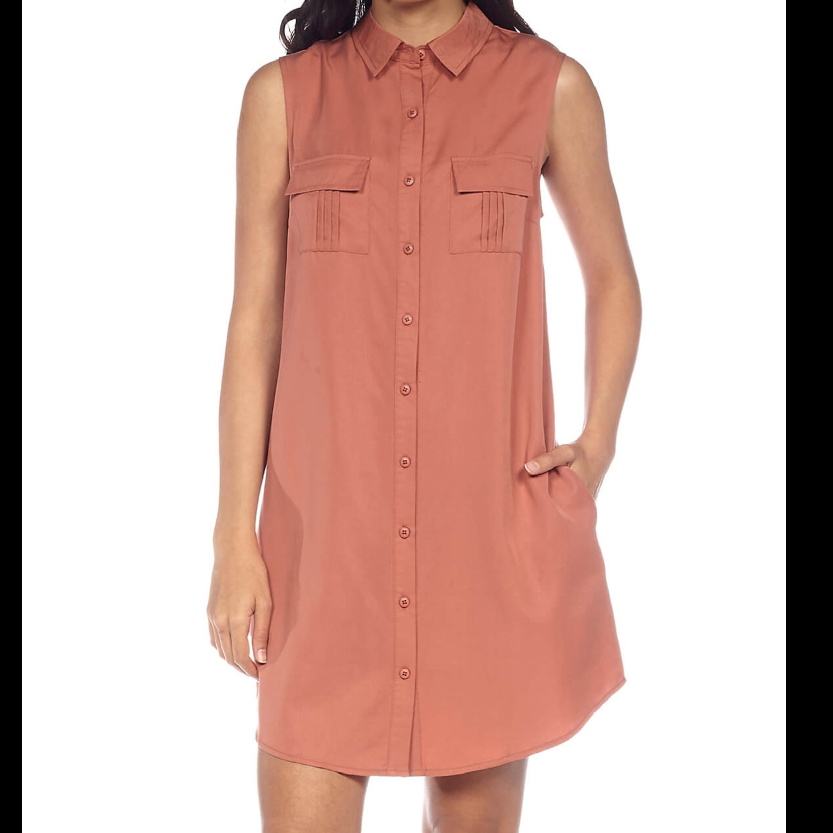 DKR & Company Sleeveless Shirt Dress CH-025