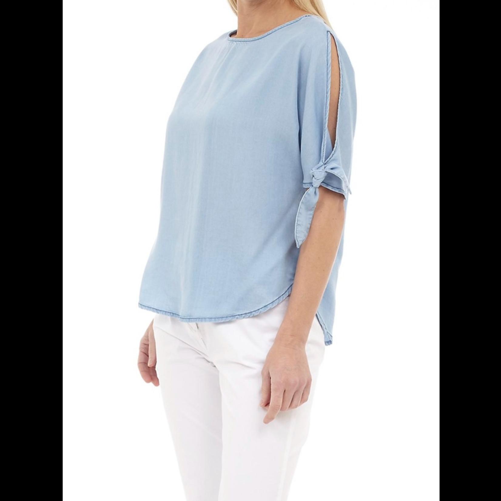 DKR & Company Short Sleeve Cold Shoulder Top