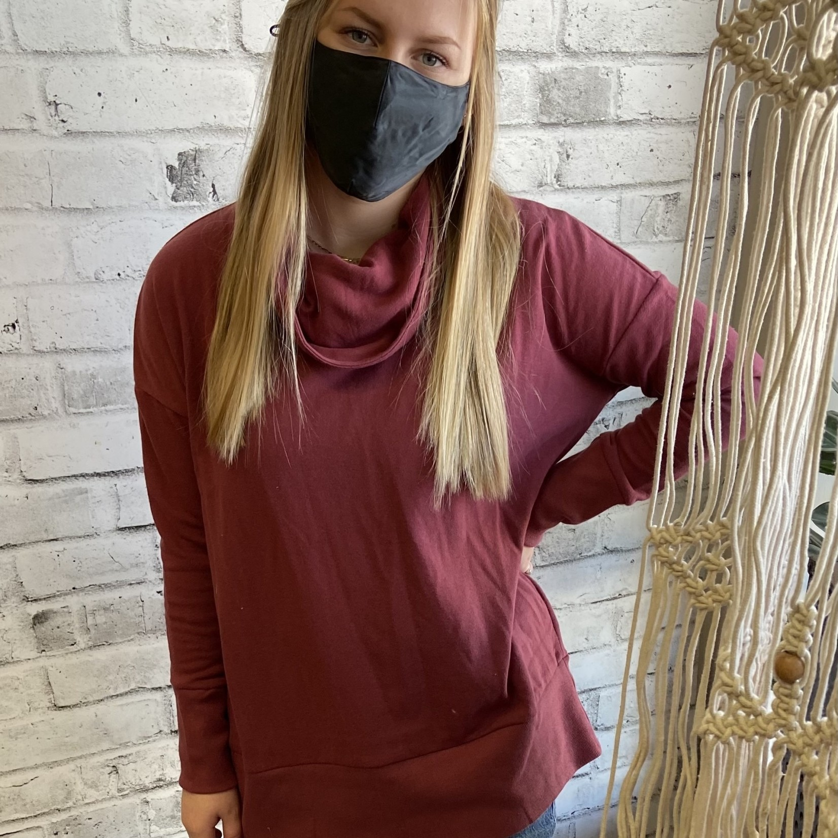 DKR & Company Long Sleeve Cowl Neck Top
