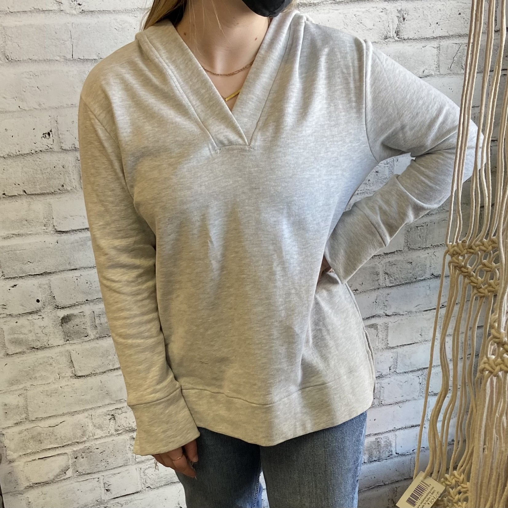 DKR & Company V-Neck Hoodie with Side Vents FH-914