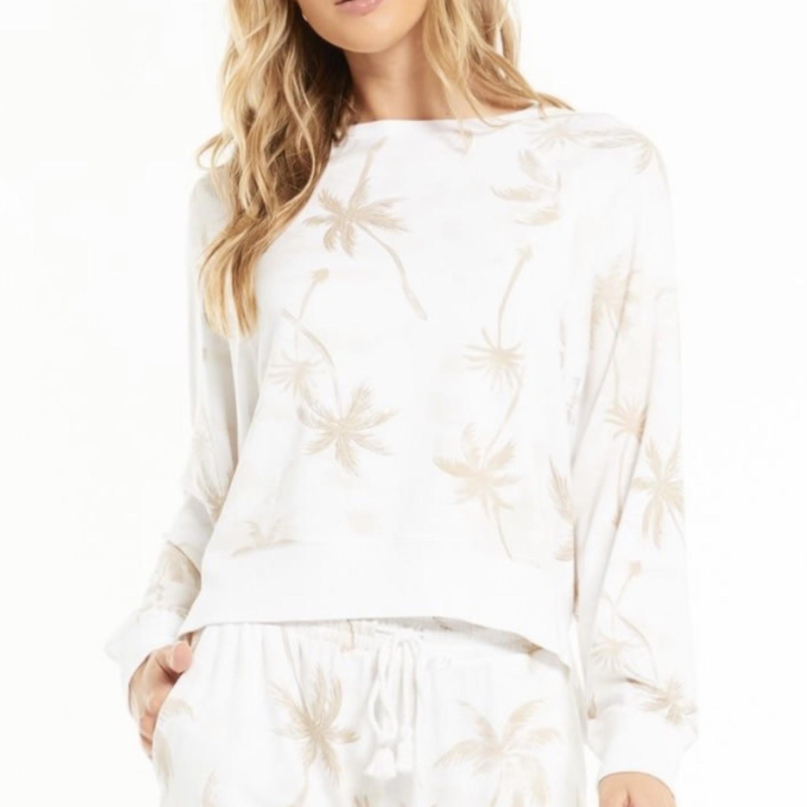 z supply Sleep Over Palm Sweatshirt ZLT212607