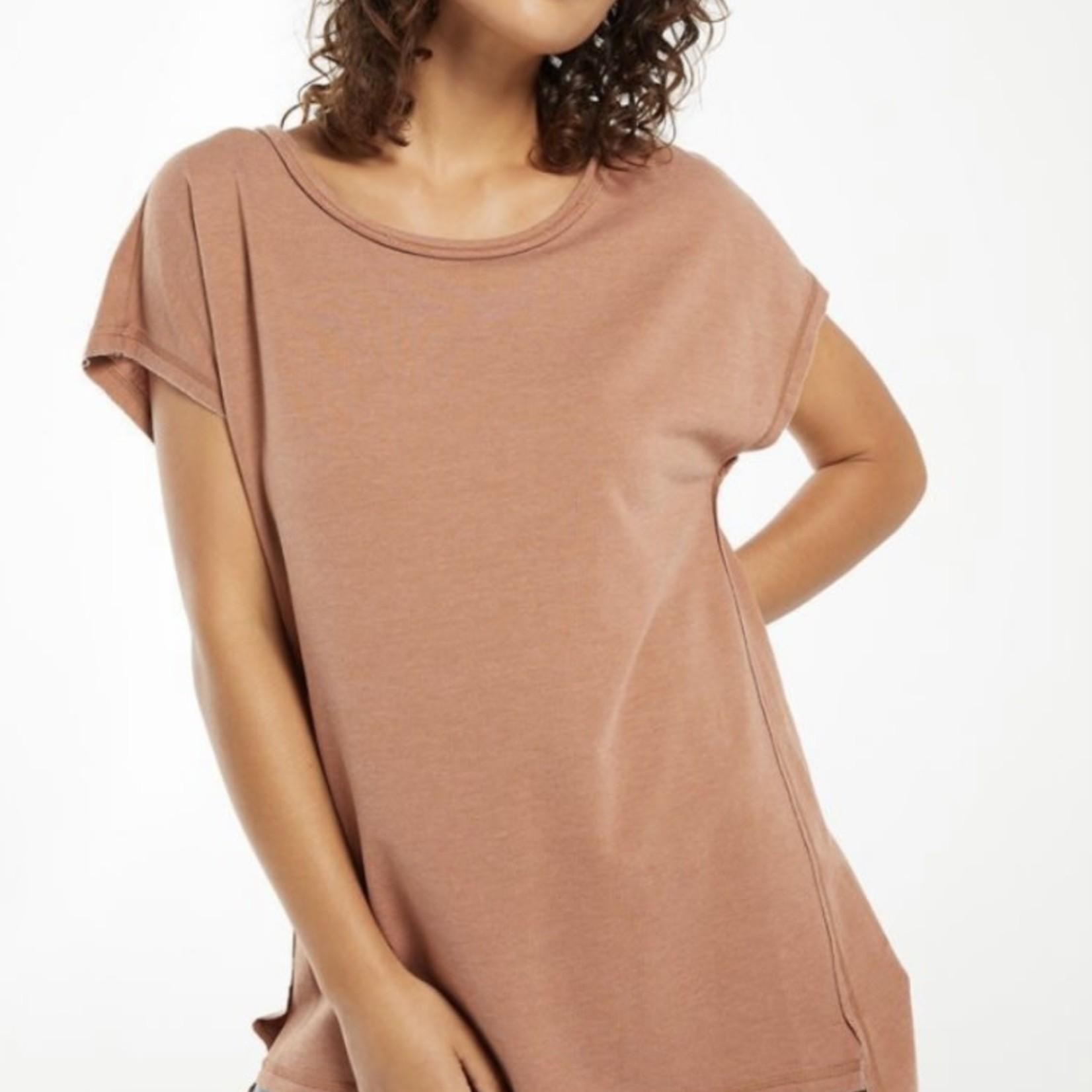 z supply Frankie Sweatshirt Tunic Tee ZT212516