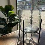 Indaba Glass Hurricane Pot w/ Stand