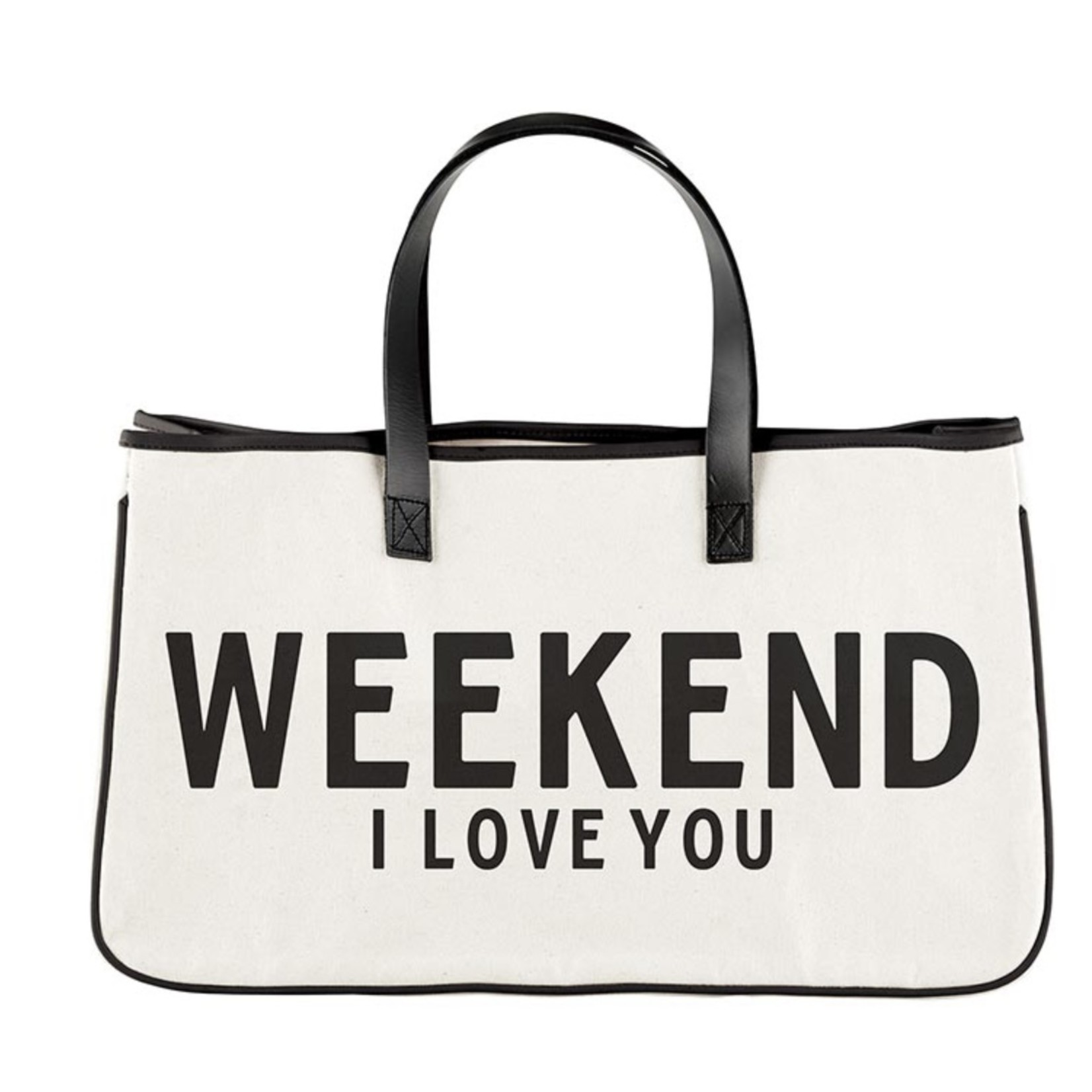 Santa Barbara Designs Canvas Tote - Weekend I Love You